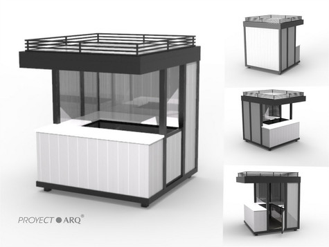 muebles para plazas comerciales kioscos