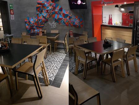 sillas cnc proyectarq madera restaurante