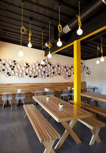 bancas interior restaurante superficie s