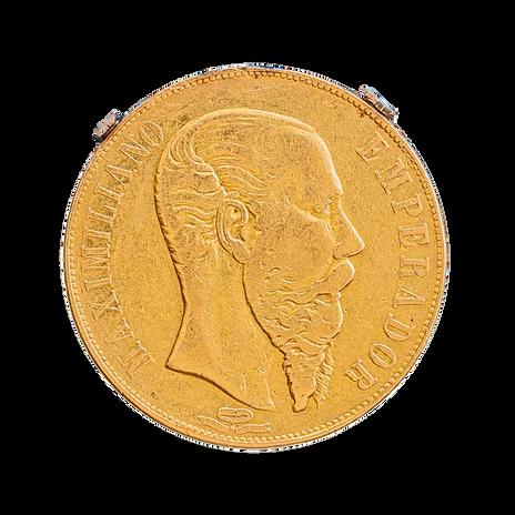 Moneda Maximiliano de 20 pesos