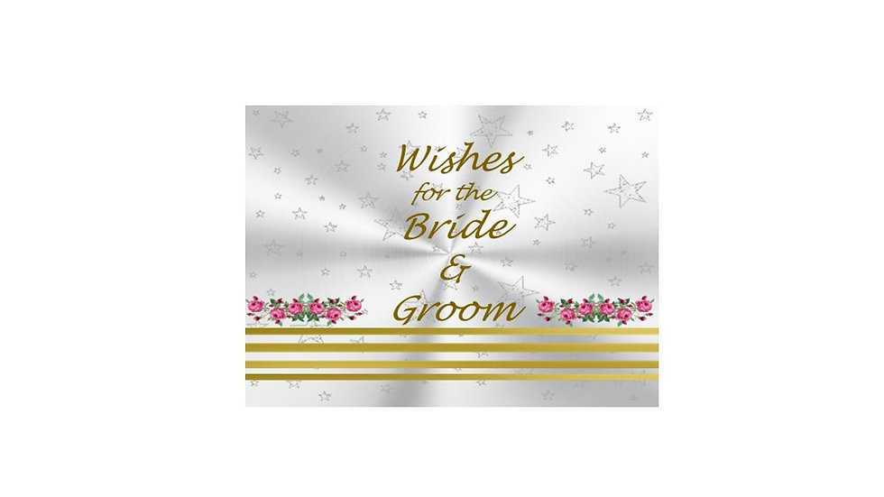 Bride & Groom Gold stripe well wishes