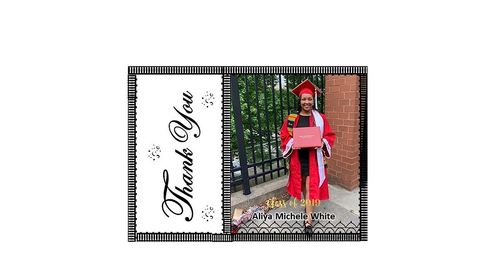 Thank You Graduation Photo B&W