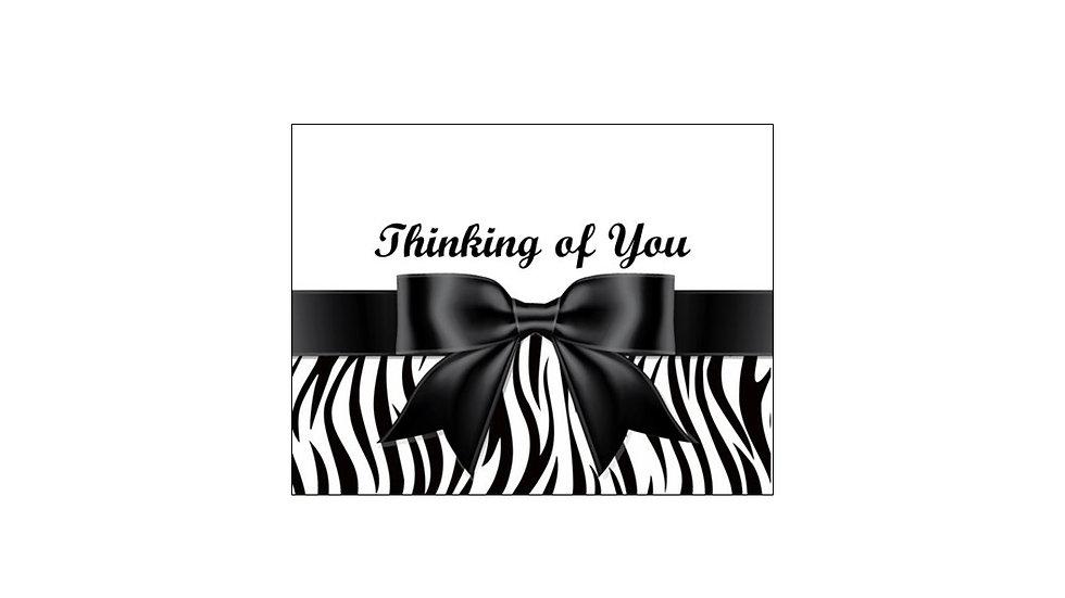 Thinking of you zebra