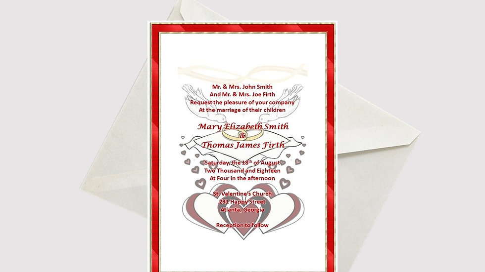 Wedding Invitation Rings on Pillow