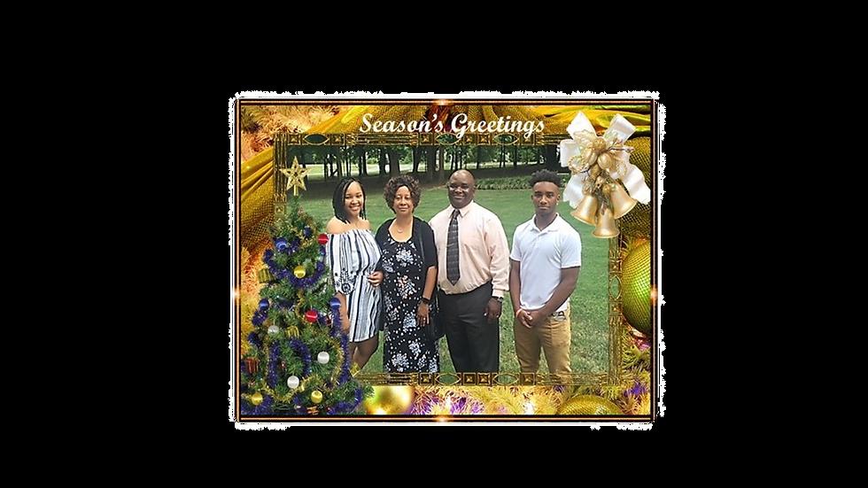 Golden Bell Christmas Photo Card