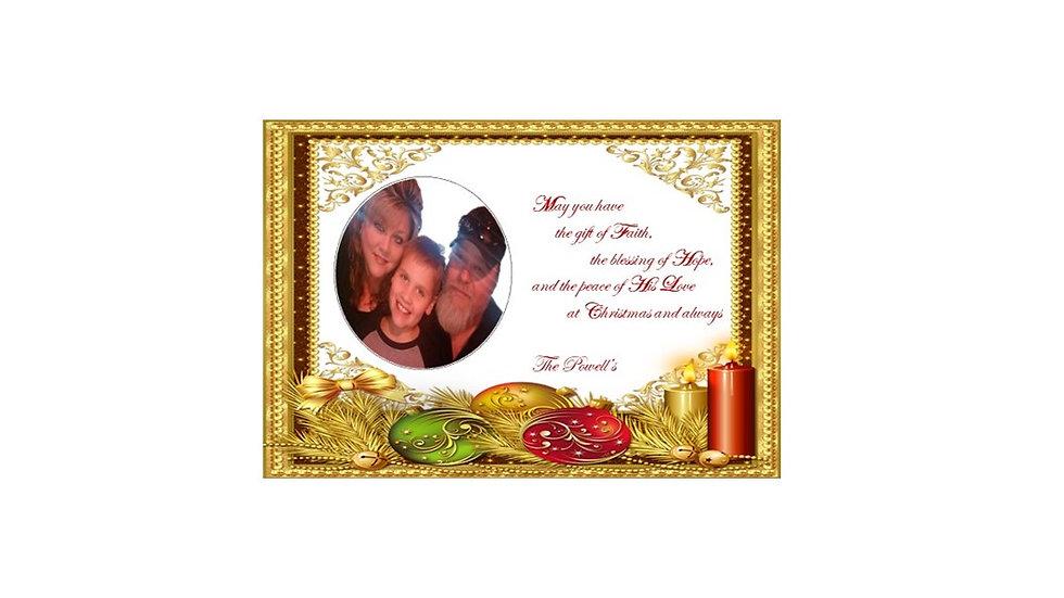 Gold Ornament Photo Post Card