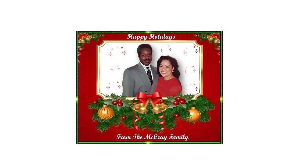 Cherry Merry Christmas Photo Postcard