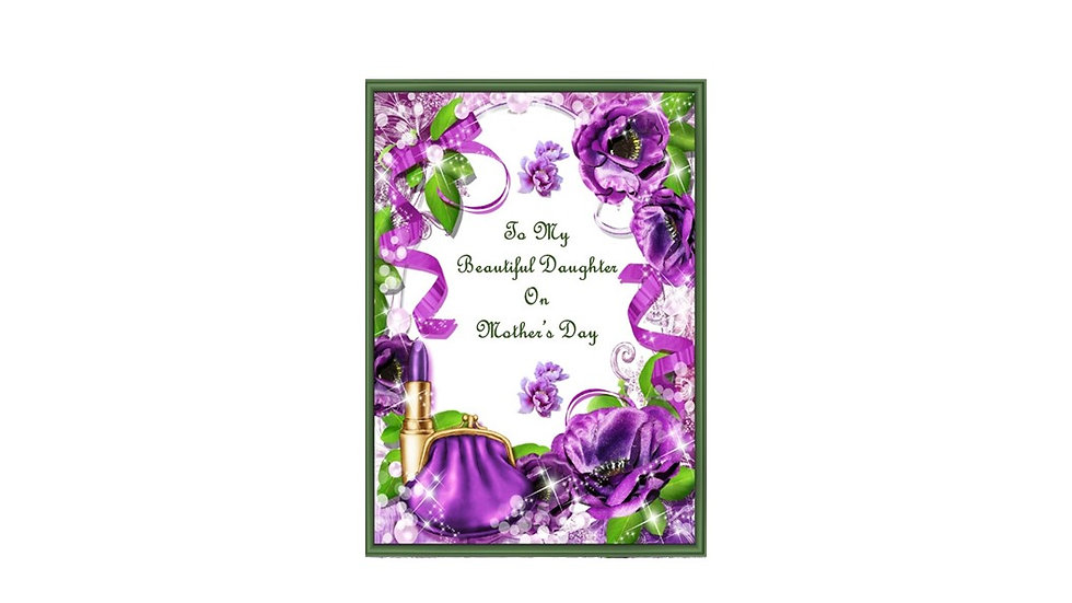 Precious Jewel Daughter Mothers Day card