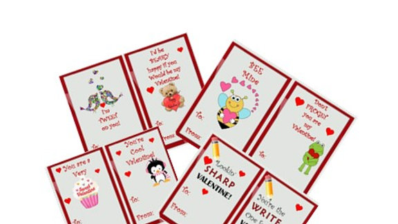 Economy Pack Valentine exchange Cards