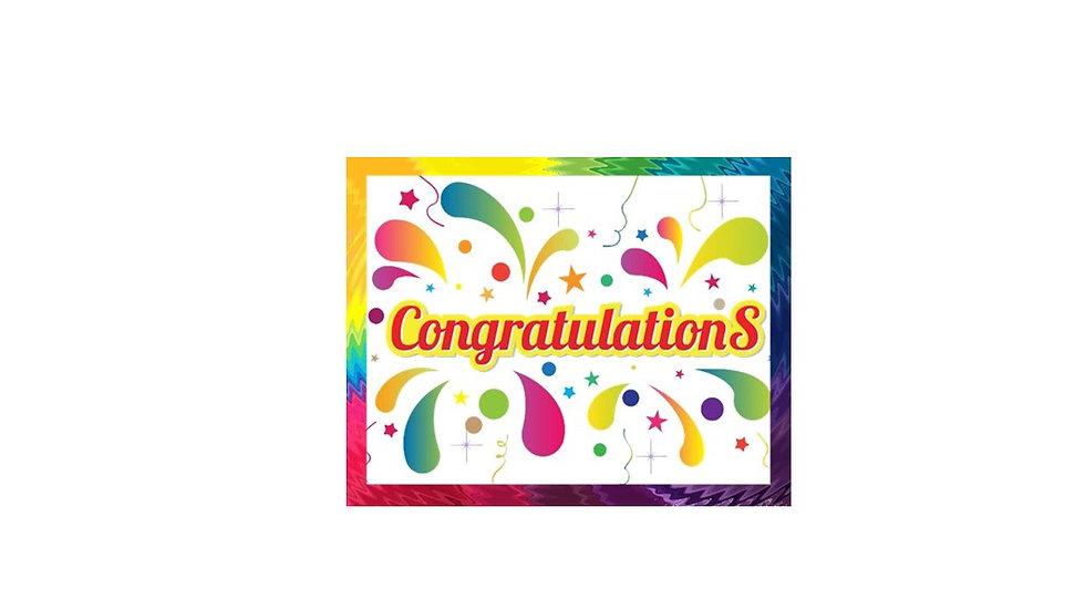 Congrats Accomplished Success