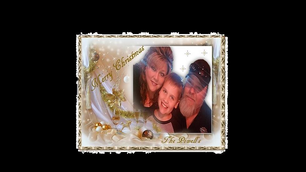 Gold Garland Photo Christmas Card
