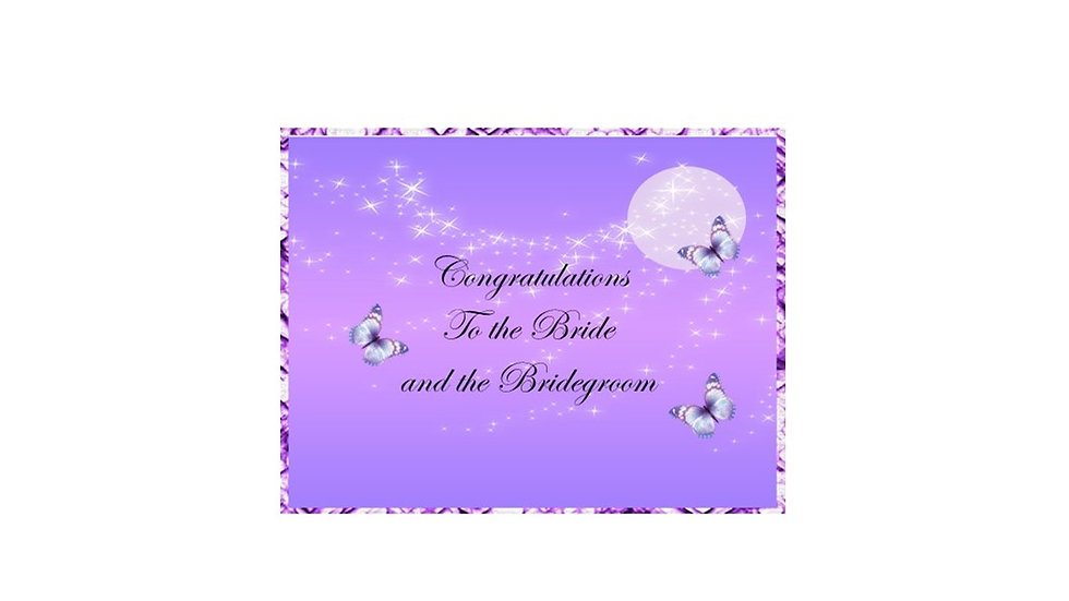Congrats Bride & Groom Purple Moon