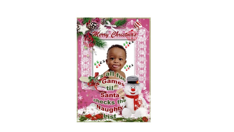 Naughty or Nice Christmas Photo Card