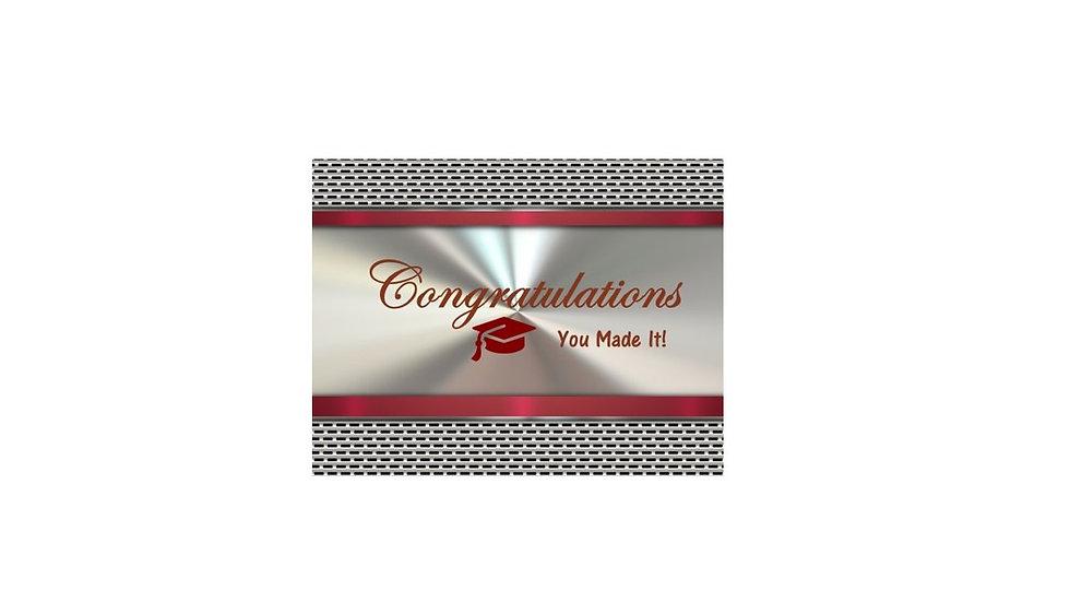Congrats Graduation Silver Ray