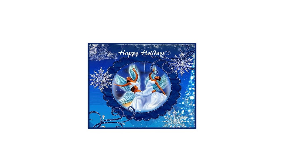 Dancing Angels Christmas Card