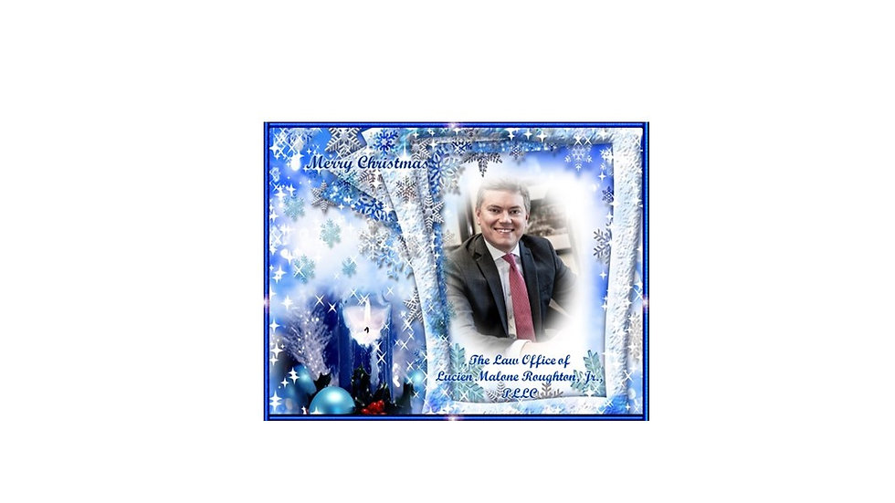 Royal Blue Holiday Photo Card