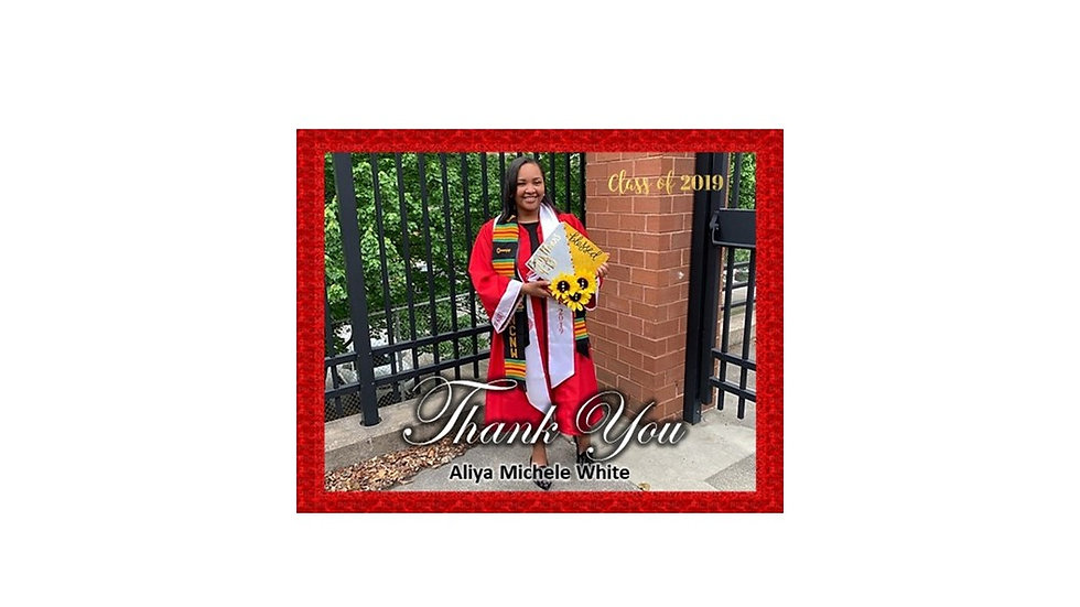 Thank You Graduation Photo Red