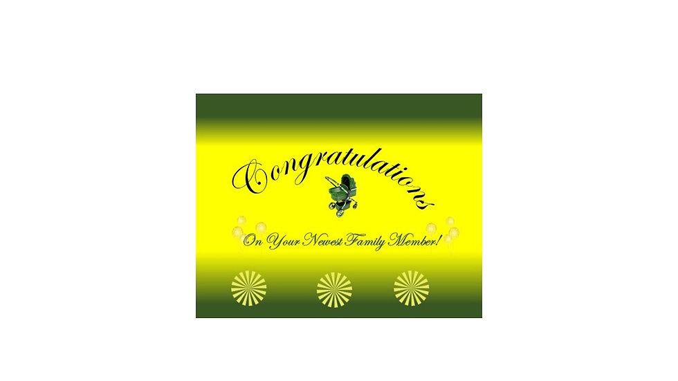 Congrats Baby Green Level
