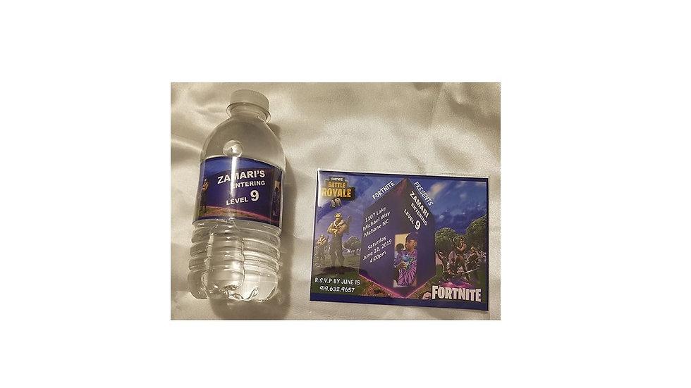 Invitation & Water Bottle Label