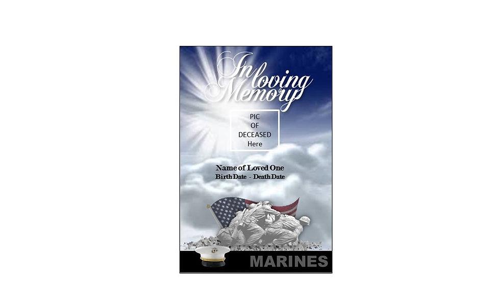 Funeral Program Marine Corp