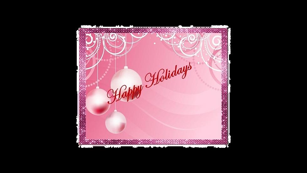 Shimmer Pink Christmas