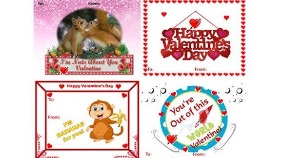 Valentine Dot to Dot Exchange Cards
