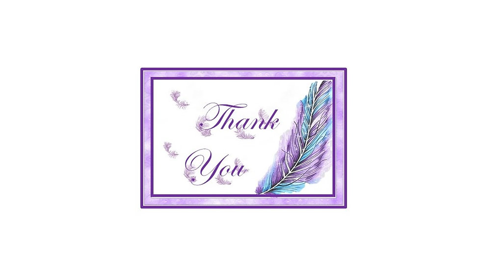 Thank You Purple Feather