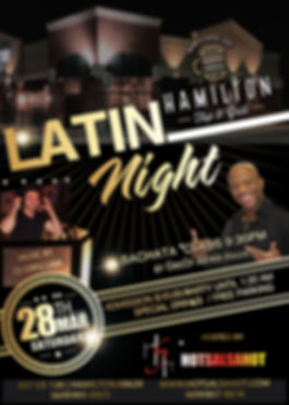 Tap & gril Bachata  Latin night Mar 28th