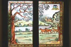 Kampmann - Horses - Glass Painting