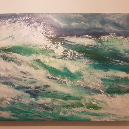 seascape paintings on canvas original surf art seascape paintings of cornwall kathy gray artist