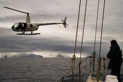 Sea Shepherd helicopter