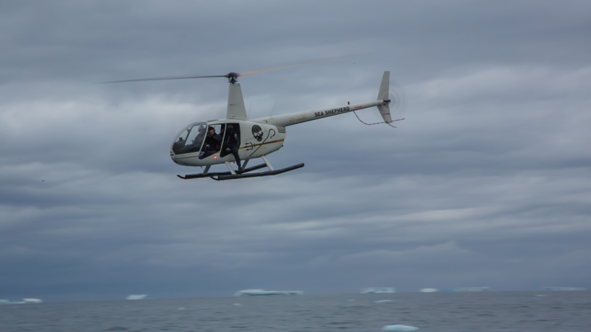 sea shepherd helicopter