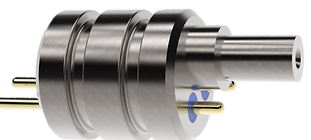 Rendering of Hybrid Electrical and Fiber Hermetic Feedthrough