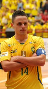 Rodrigo é um dos principais jogadores da Seleção Brasileira de Futsal, além de ser considerado um líder dentro de quadra