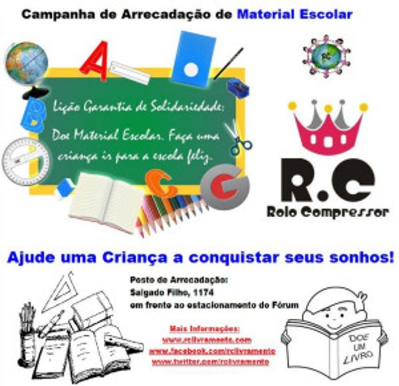 1ª Campanha de Arrecadação de Material Escolar do RC Livramento