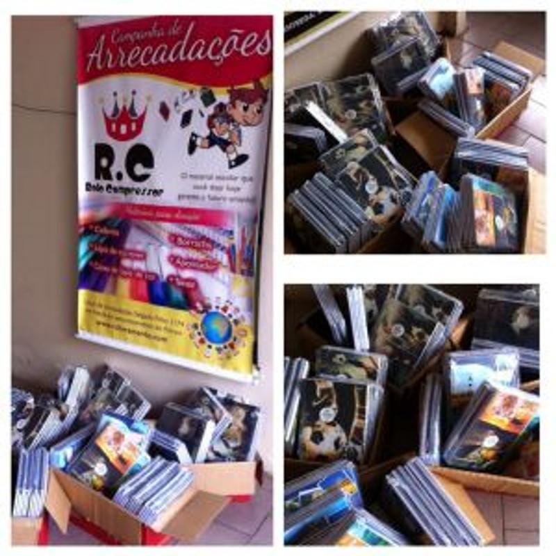 RC Livramento ganha doação de 200 cadernos do Grupo Santanenses Solidários
