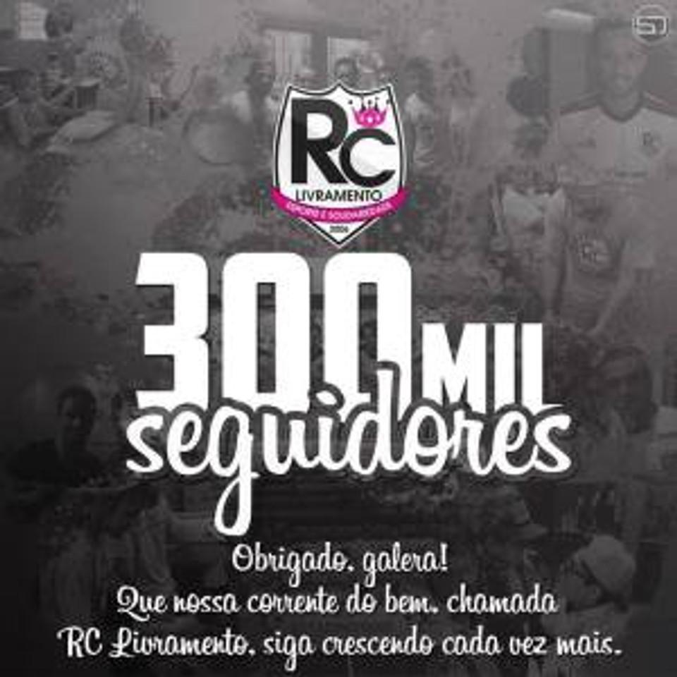 RC Livramento - 300 mil seguidores - Instagram