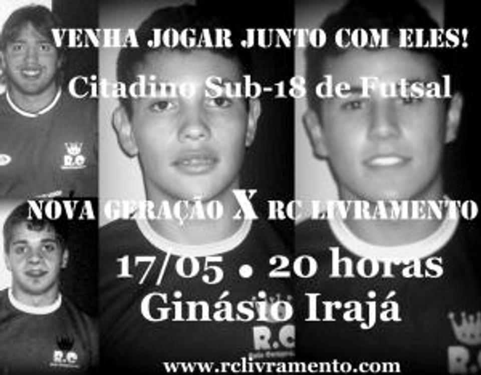 RC Livramento no Citadino Sub-18 de Futsal