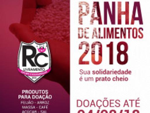 Com grande satisfação e alegria, RC Livramento lança Campanha de Alimentos 2018