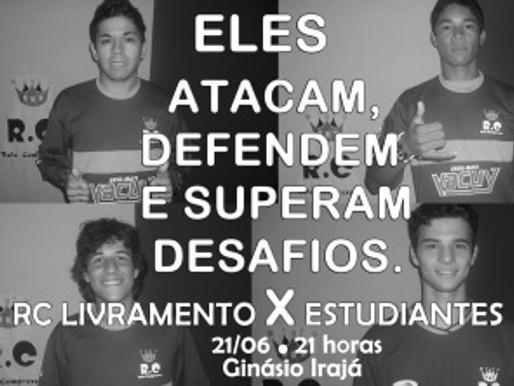 RC Livramento e Estudiantes se enfrentam no dia 21 de junho