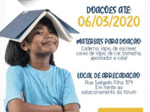 Campanha de Materiais Escolares 2020 é lançada pelo RC Livramento