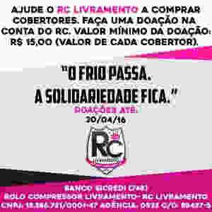 RC Livramento - Campanha de Agasalhos 2016 - Compra de Cobertores