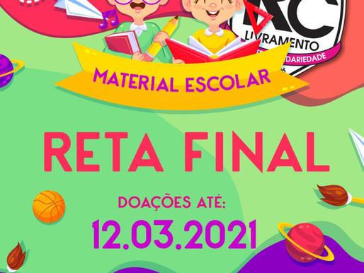 Campanha de Materiais Escolares do RC ingressa na reta final