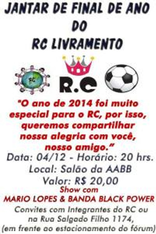 Jantar de Final de Ano do RC Livramento - 2014