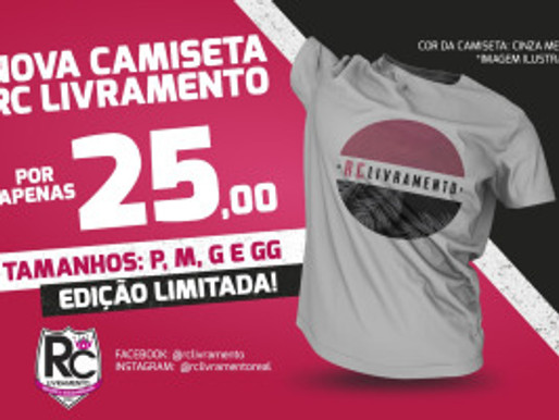 RC Livramento lança nova camiseta