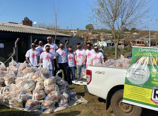 RC Livramento arrecada mais de duas toneladas de alimentos e beneficia centenas de famílias