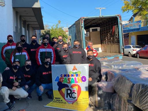 Pelo segundo ano consecutivo, RC Livramento entrega 500 cobertores para a comunidade