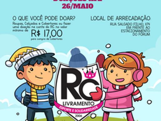 """Com o lema """"Aqueça o inverno de alguém"""", RC Livramento lança Campanha de Agasalhos 2018"""