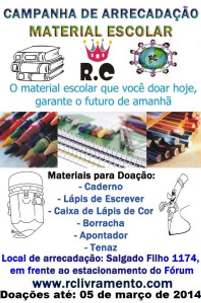 RC Livramento - Campanha de Material Escolar 2014