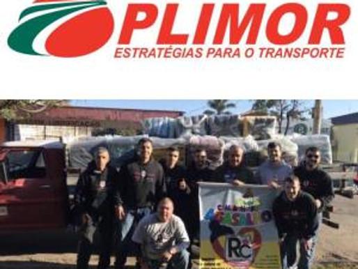 Pelo segundo ano consecutivo, RC Livramento agradece empresa Plimor pelo transporte dos cobertores